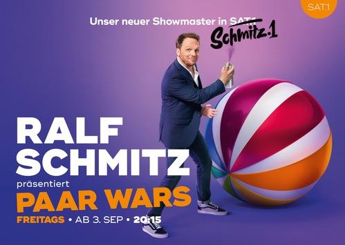 """Freundliche Übernahme: SAT.1 wird zu Schmitz.1 / Umfangreiche 360°-Kampagne zum Start von """"Paar Wars"""""""