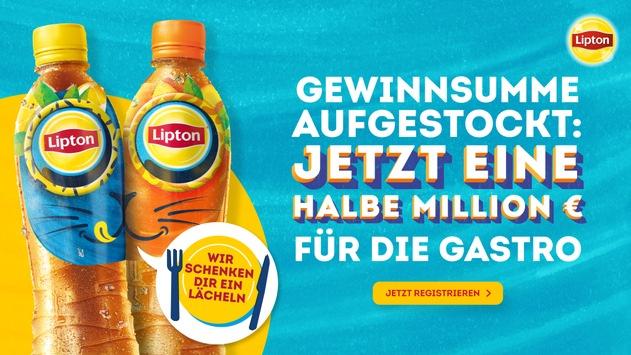 Lipton Ice Tea erhöht die finanzielle Unterstützung für Gastronomen in der Sommer-Kampagne auf eine halbe Millionen Euro