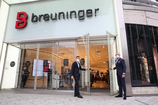 Breuninger Stores erstmals seit Dezember wieder geöffnet / Medieninformation mit rechtefreiem Bild- und Videomaterial