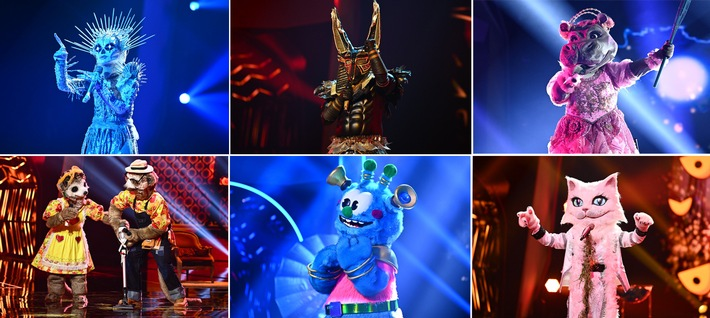 """Dienstags-Rätsel am Montag: """"The Masked Singer"""" feiert das Halbfinale bereits am Montag, 16. November, live auf ProSieben / Was sagt Sarah Lombardi zu den Skelett-Gerüchten?"""