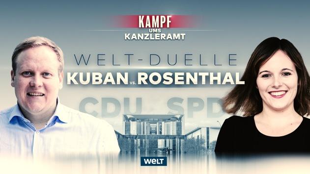 """""""Kampf ums Kanzleramt"""" auf dem Nachrichtensender WELT: Drei Duelle in der kommenden Woche"""