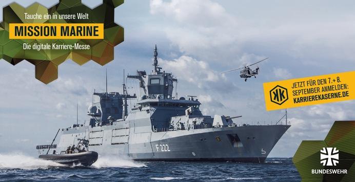 """Save the Date: """"Mission Marine"""" – Die erste maritime virtuelle Karrieremesse der Bundeswehr – Anmeldungen ab sofort!"""