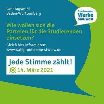 Landtagswahlen 2021 in Baden-Württemberg: Wie wollen sich die Parteien für die Studierenden einsetzen?
