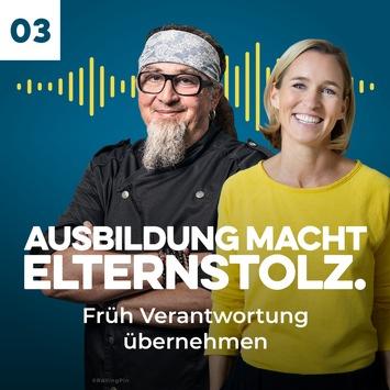 """""""Je früher man anfängt, umso leichter hat man's!"""" / Stefan Marquard, TV- und Spitzenkoch im Podcast / """"Ausbildung macht Elternstolz – Der Podcast für Eltern"""""""