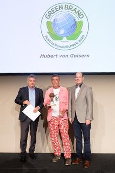 """Hubert von Goisern und 46 Marken in Wien als """"GREEN BRANDS Austria"""" ausgezeichnet / Laudatio des österreichischen Vizekanzlers Werner Kogler für Hubert von Goisern"""