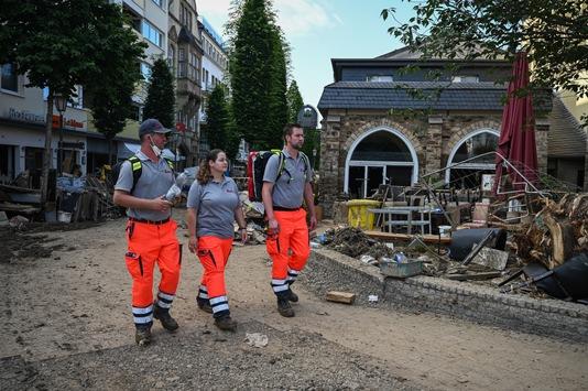 Größter Katastrophenschutz-Einsatz der Hilfsorganisation / Mehr als 2.200 Einsatzkräfte aus allen Landesverbänden der Johanniter waren in der Hochwasserkatastrophe aktiv