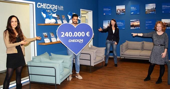 CHECK24 spendet 240.000 Euro an Stiftung RTL – Wir helfen Kindern e.V.