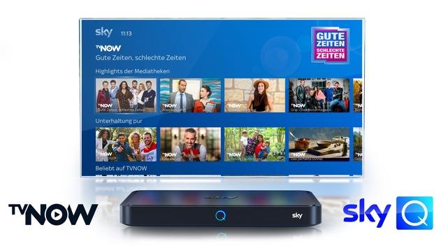 TVNOW ab sofort auf Sky Q verfügbar
