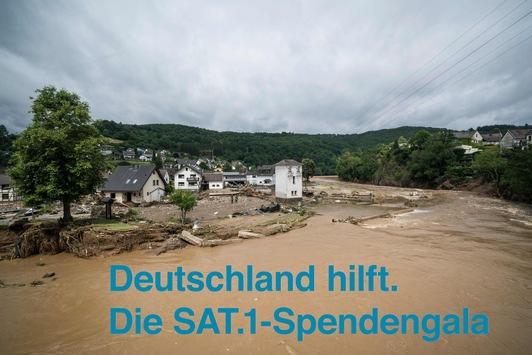 """Kurzfristige Programmänderung. SAT.1 zeigt die Spendengala """"Deutschland hilft. Die SAT.1-Spendengala"""" am Samstag, 24. Juli, live aus Köln"""