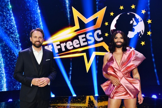 """Glamour und Gala: Conchita Wurst und Steven Gätjen führen am 15. Mai 2021 durch den """"FREE EUROPEAN SONG CONTEST"""" 2021 auf ProSieben"""
