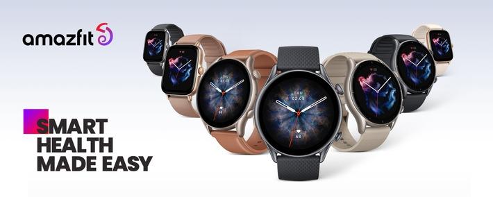 Amazfit launcht neue Smartwatch-Serie, die Mode und Technologie in drei herausragenden Wearables vereint / Drei neue Produktlinien mit eigenem Betriebssystem