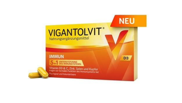 Katarina Witt ist zurück auf dem Eis und präsentiert das neue VIGANTOLVIT® IMMUN* / Ab Januar in der Apotheke: Das neue 5-in-1 Kombipräparat mit Vitamin D für ein gesundes Immunsystem*
