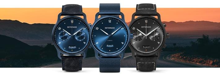 Topseller der Uhrenmarke in neuem Look / DETOMASO veröffentlicht erste Limited Editions