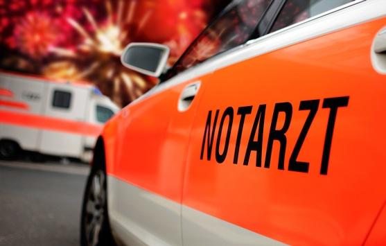 Verletzungen durch Feuerwerkskörper werden selten im Krankenhaus behandelt