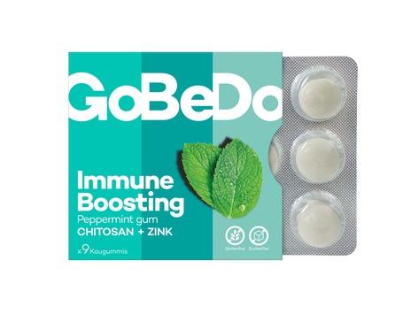 Kauen gegen Viren: Kaugummi unterstützt die Abwehrkräfte / GoBeDo Immune Boosting Gum – für das Extra an Schutz