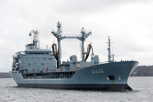 """Betriebsstofftanker """"Spessart"""" unterstützt Einsatzverband der NATO"""