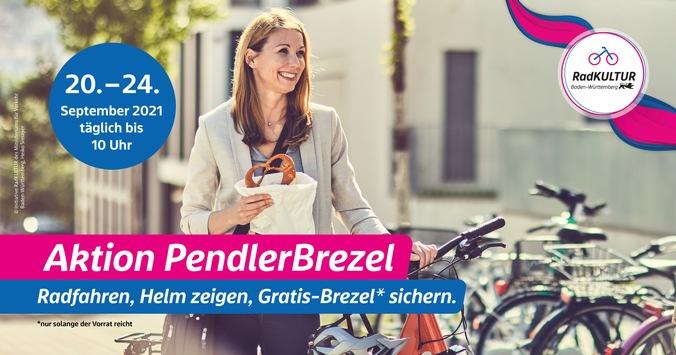 Brezeln für Fahrrad-Pendelnde – Die Initiative RadKULTUR des Verkehrsministeriums belohnt klimafreundliche und gesunde Mobilität mit einer Gratis-Brezel