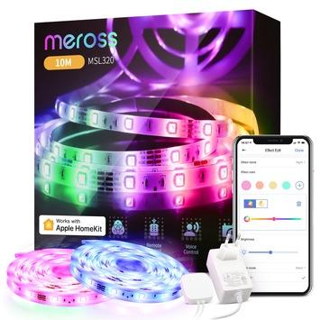 Smarter LED-Streifen von Meross mit 10 Meter Länge jetzt für unter 30 Euro frei Haus / Sprachsteuerung des LED-Stripes via Apple Homekit, Amazon Alexa & Google Home möglich