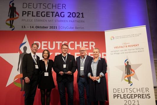 Deutscher Pflegepreis: Gewinner des Korian Stiftungsawards für Vielfalt und Respekt in der Pflege ausgezeichnet
