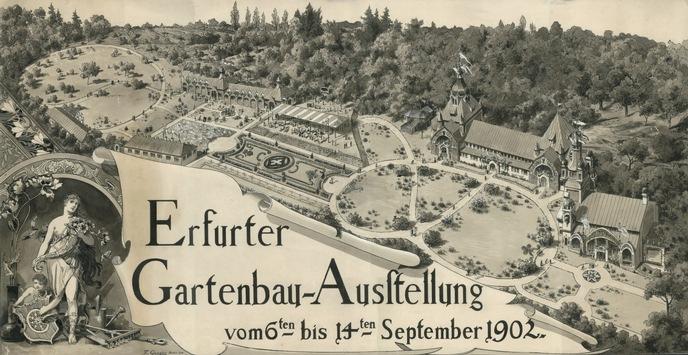 Gartenschauen haben in der Blumenstadt Erfurt eine fast 200-jährige Tradition