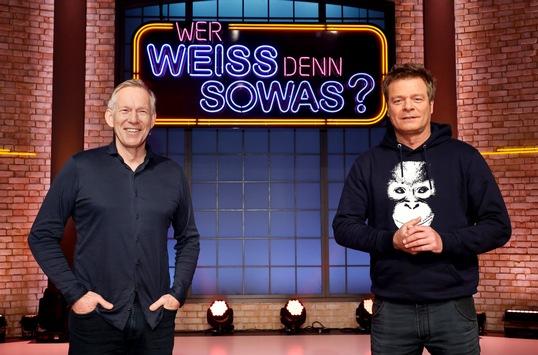 """Das Erste: Alles nur Show: Johannes B. Kerner und Oliver Geissen bei """"Wer weiß denn sowas?"""" / Das Wissensquiz vom 22. bis 26. März 2021, um 18:00 Uhr im Ersten"""