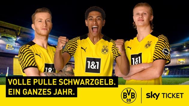 Volle Pulle Schwarzgelb: Sky Deutschland und Fußball-Bundesligist Borussia Dortmund starten eine umfassende und langfristige Kooperation