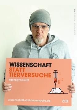 """Thomas D on Air: Neuer Radiospot, Motiv und Interview gegen Tierversuche – Rapper unterstützt PETAs Kampagne zum """"Research Modernisation Deal"""""""