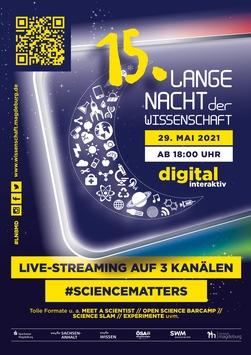 Magdeburger Wissenschaftsnacht streamt 18 Stunden digitales und interaktives Programm