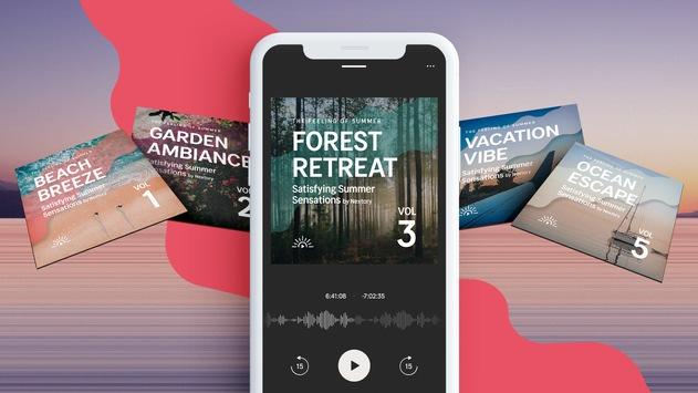 Endlich zur Ruhe kommen – mit ASMR und binauralen Klängen / Nextory präsentiert die entspannendste Hörbuchserie des Sommers