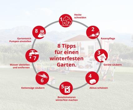 Acht Tipps: So macht man Garten und Gartengeräte winterfest