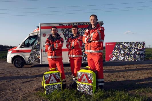 Ein Design, das Leben retten kann / Gaffer erwischen sich selbst auf frischer Tat – dank einer Innovation der Johanniter-Unfall-Hilfe und der Kreativagentur Scholz & Friends