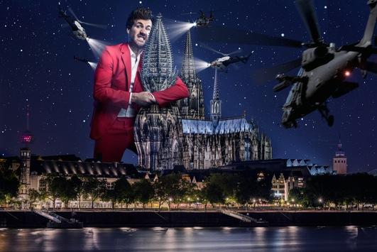"""Mann gegen Metropole: Luke Mockridge tritt gegen Köln und die Kölner mit Lukas Podolski und Jenke von Wilmsdorff an / """"LUKE! Die Greatnightshow"""" am Freitag um 20:15 Uhr in SAT.1"""
