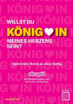 Lovebirds zwitschern nicht mehr nur Englisch / OkCupid ist jetzt auf Deutsch verfügbar und genderneutral