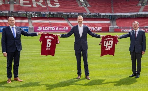 Füracker: LOTTO Bayern weitere zwei Jahre Premium-Partner des 1. FC Nürnberg