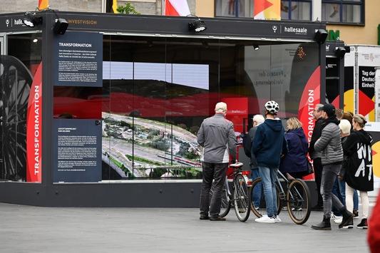"""""""Halles neuer Osten"""": Cube zur EinheitsEXPO auf Marktplatz"""