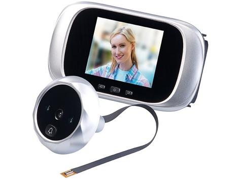 Somikon Digitale Türspion-Kamera mit 7,1-cm-Farbdisplay (2,8″) und Nachtsicht: hauseigener Portier für extra Sicherheit
