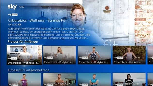 Mit Sky fit und inspiriert durch den Lockdown: Das Beste aus Fitness, Lifestyle, Reisen und Kochen mit Sky Q jederzeit auf Abruf