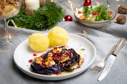 We wish you a veggie Christmas! / Himmlischer Genuss ohne Fleisch – Mit saisonal und regional erzeugtem Obst und Gemüse, vor allem aber dem Weihnachtsklassiker Rotkohl, wird das Festessen zum Genuss