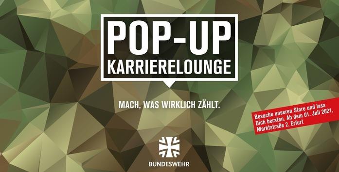 Einladung zum Interviewtermin / die erste Pop-up-Karrierelounge im Herzen Erfurts