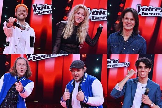 Paula Dalla Corte, Mael und Jonas, Oliver Henrich, Alessandro Pola und Tosari Udayana stehen im #TVOG-Finale