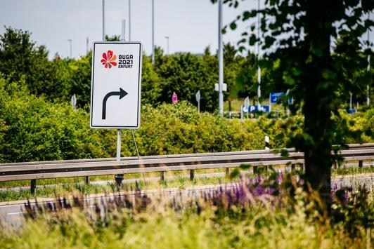 Blumenstadt geht weiter/Blühende Stadteinfahrten begrüßen BUGA-Besucher in Erfurt