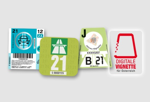 Vignetten 2021: Österreich-Pickerl wird teurer / Autofahrer zahlen 92,50 Euro für das ganze Jahr / Digitale Vignette: Nur bei Kauf in der ADAC Geschäftsstelle sofort gültig