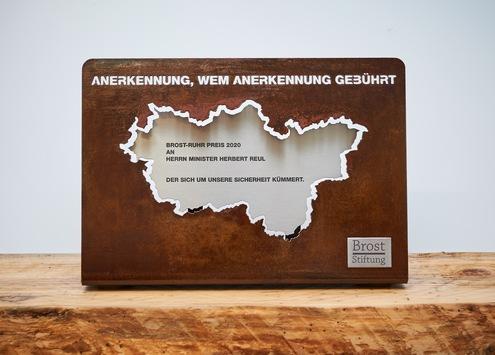 Signal aus dem und für das Ruhrgebiet / Der Brost-Ruhr Preis 2020 geht an NRW-Innenminister Herbert Reul