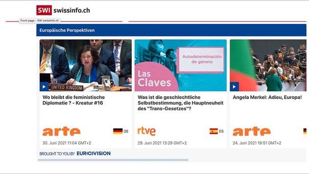 """Was Menschen in Europa bewegt / Mit Medien aus ganz Europa bietet SWI swissinfo.ch neu """"Europäische Perspektiven"""""""