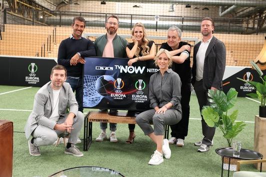 Hochkarätig besetzte Europapokalabende bei TVNOW, RTL & NITRO / Mit Lukas Podolski, Karl-Heinz Riedle, Laura Papendick, Anna Kraft, Robby Hunke und Arnd Zeigler