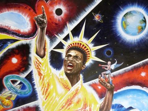 """Saxo Bank of Art haut' richtig rein! """"Muhammad Ali King of the World"""" / Power Painting Collection! Größte digitale Kunstausstellung von weltweit gesammelten Werken eines deutschen Künstlers! /"""