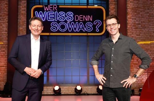 """Das Erste: Der Nächste, bitte! Eckart von Hirschhausen und Johannes Wimmer bei """"Wer weiß denn sowas?"""" / Das Wissensquiz vom 8. bis 12. März 2021, um 18:00 Uhr im Ersten"""