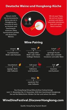 Deutsche Weine treffen auf Hongkonger Küche: Erstes virtuelles Hong Kong Wine and Dine Festival im November und Dezember