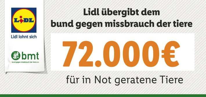 Erfolgreiche Lidl-Aktion: 72.000 Euro für den Bund gegen Missbrauch der Tiere / Lidl-Kunden unterstützten Tierschutzorganisation durch den Kauf von Adventskalendern für Haustiere