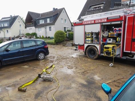 FW-MK: Gewitterzelle sorgt für über 20 Einsätze der Feuerwehr
